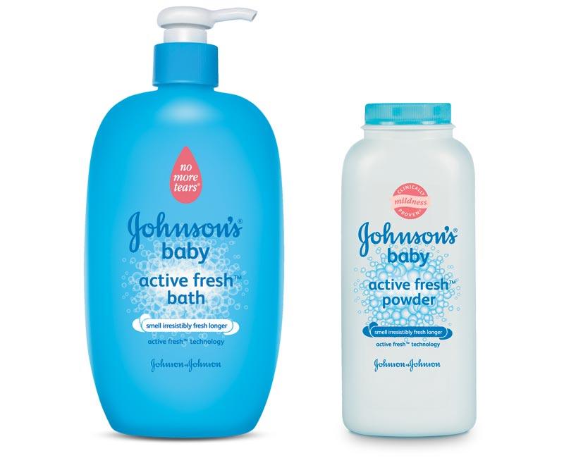 Johnson's Baby Active Fresh Bath and Active Fresh Powder