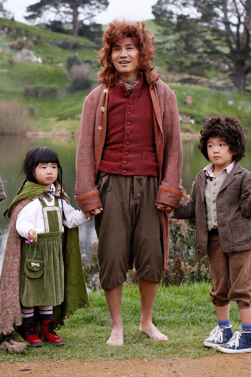 曹格与一双儿女《魔戒》重现