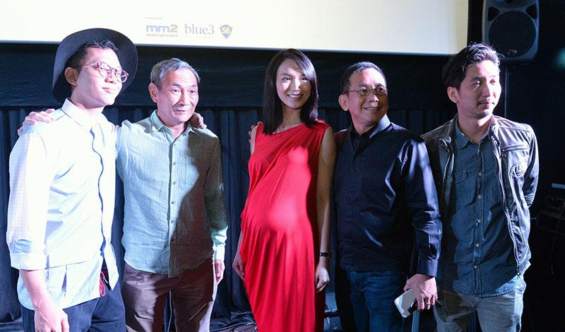 出席《1965》记者会的包括歌手Sezairi(左起)、林继堂、白薇秀和双导演云晖翔以及洪温汉。