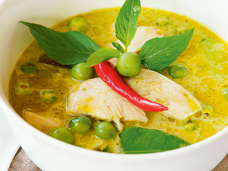 The Basil Inn Green Curry Chicken
