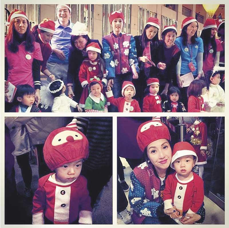 商场陪唱 去年12月Torres学校举行亲子活动,一场show歌酬7位数港币的字的杨千嬅,为子甘于做陪衬。