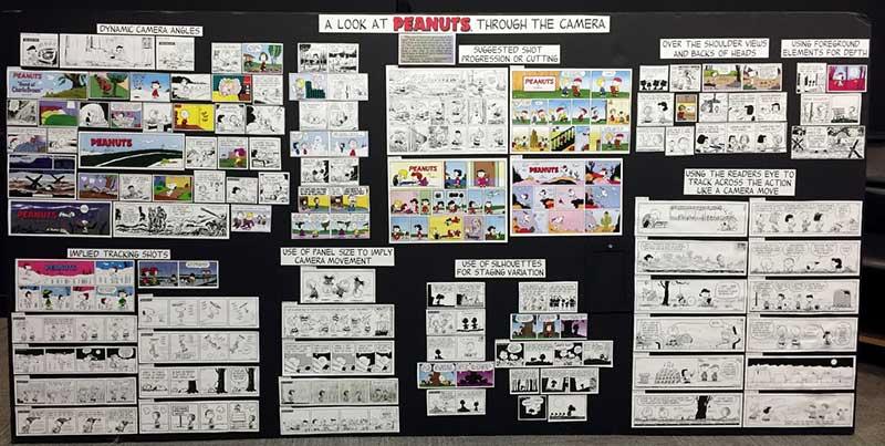 情节串连图板 在任何电影或动画片的制作初期,情节串连图板(story boards)是不可或缺的过程之一。动画摄影与景物小组的这个完成图版看起来果然照顾到许多细节。