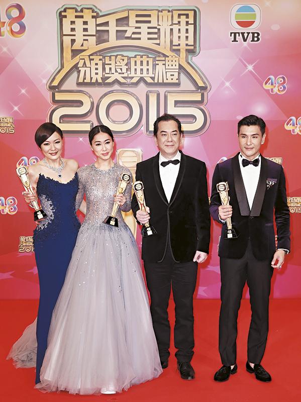 """去年台庆,陈展鹏输给黄秋生,只拿了""""最受欢迎电视男角色""""奖。"""