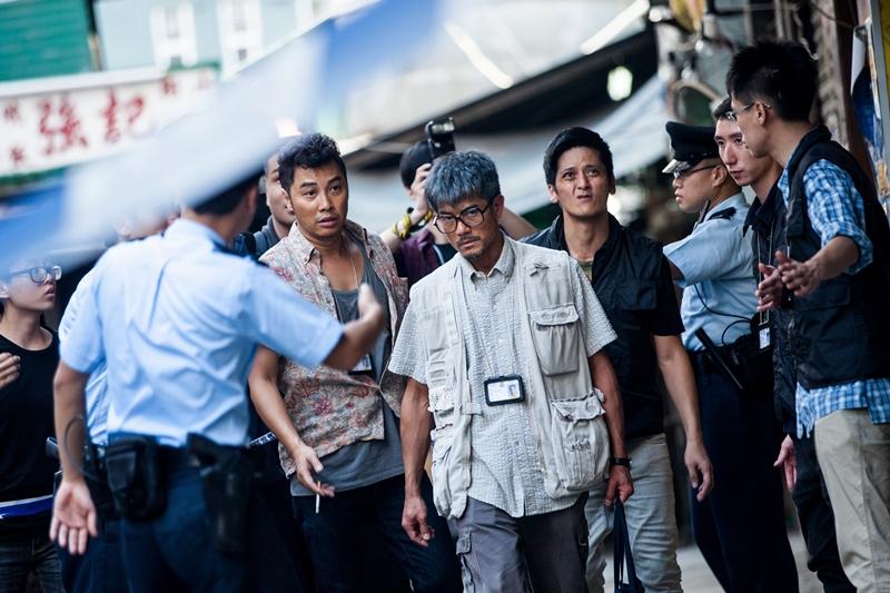 """郭富城(中)凭《踏血寻梅》角逐第35届香港电影金像奖""""最佳男主角""""奖项。(SHAW提供)"""