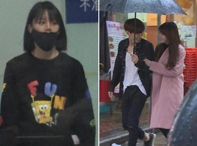 """惠利(左)看到利特(中)与珉雅在香港街头""""约会"""",试图帮队友隐瞒恋情。(互联网)"""