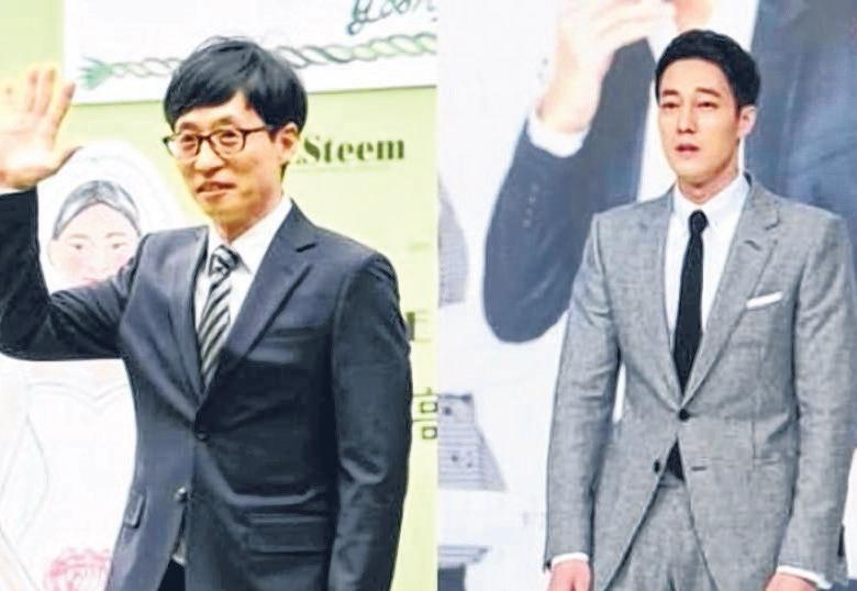 """韩国20岁至40岁女性""""最想谈恋爱的男艺人"""",由苏志燮夺得,刘在石(左)紧随其后。(互联网)"""