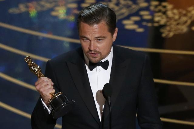 苦等多年,里奥纳度狄卡比奥终于以《复仇勇者》首夺奥斯卡影帝。(路透社)