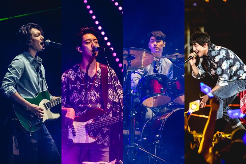 韩团CNBLUE 2月13日在新加坡室内体育馆开唱。