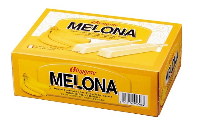 Melona香蕉冰棒让人爱不释手。