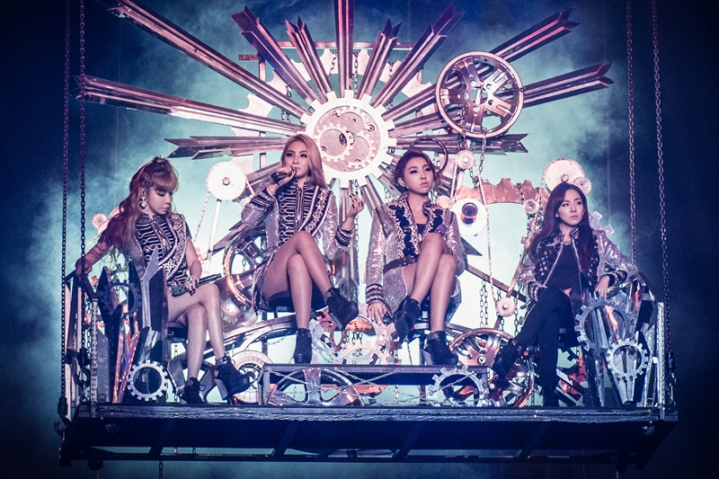 Minzy(右二)确定退出2NE1。(档案照片)