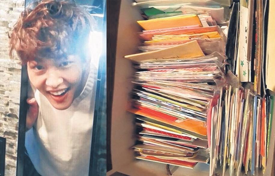 温流将粉丝的信件好好地收藏在箱子里。(互联网)