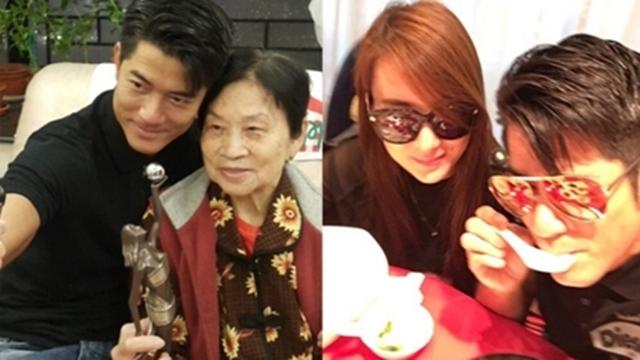 郭富城获奖在微博向妈妈(左图)喊话;再传与Moka分手(右图)。(郭富城微博)