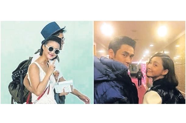 袁弘与女友中国演员张歆艺。(互联网)