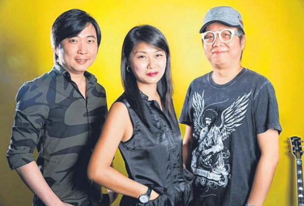 林棋玉(左)、小寒和黄韵仁。(档案照)
