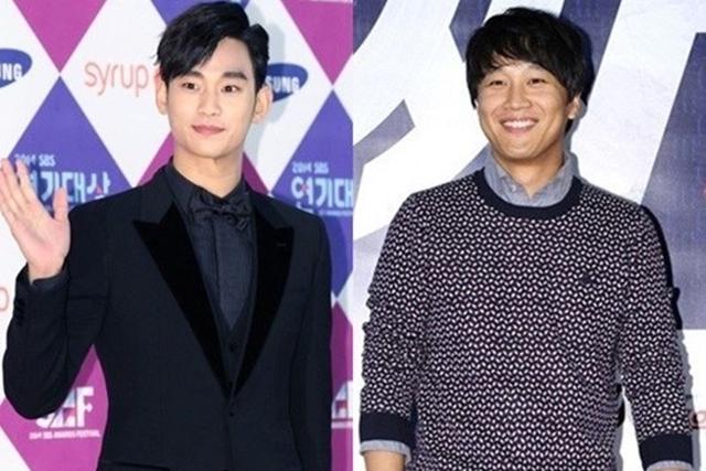 车太铉(右)分享与金秀贤在《制作人》的精彩互动。(互联网)