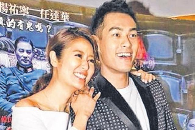 林心如( 左) 昨天与杨佑宁出席电影《魔宫魅影》首映。(互联网)