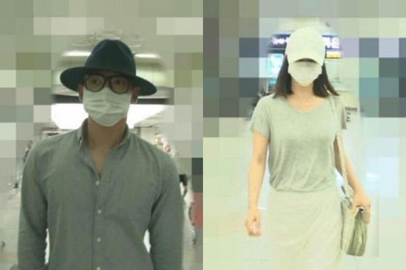 金泰希和Rain搭乘飞机回首尔金浦机场的照片曝光。(互联网)