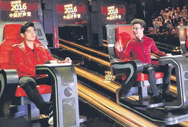 周杰伦(左)暗示将与汪峰联盟。(互联网)