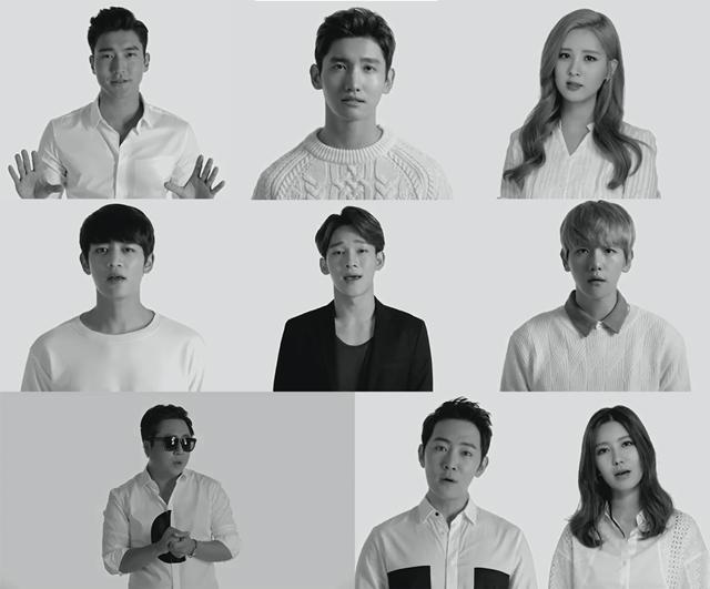 Super Junior 崔始源、东方神起 昌珉、少女时代 徐玄、SHINee 珉豪、EXO CHEN、伯贤、TRAX Jay、李东宇、J-Min (SM娱乐)