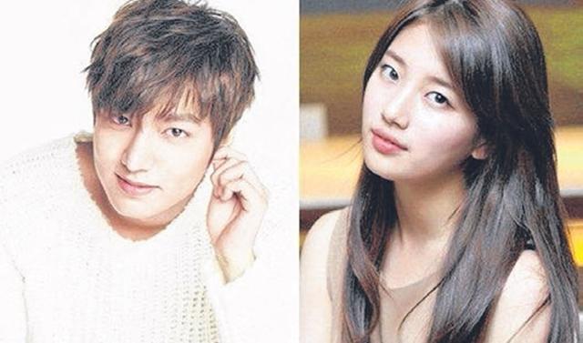 李敏镐(左)和秀智自去年认爱后,老是被传分手。(互联网)