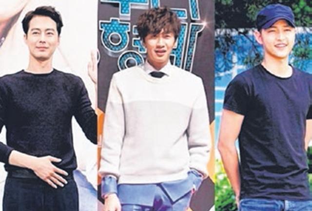 赵寅成(左起)、李光洙和宋仲基是出了名的好友。(互联网)
