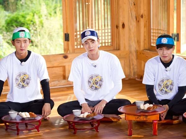 李准基(左起)、洪宗玄和姜河那到RM宣传新剧。(互联网)