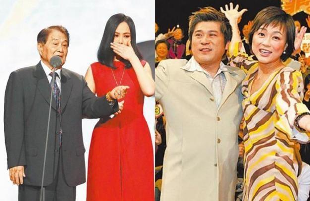 左图:江蕙(右)前晚赶到医院见黄义雄最后一面。右图:胡瓜(左)和高怡平是《非常男女》的主持人。(互联网)