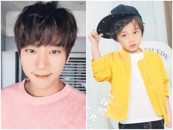 五岁的李亦航(右)不仅有着帅气外貌又鬼灵精怪,令粉丝超期待他和黄致列(左)的互动。(互联网)