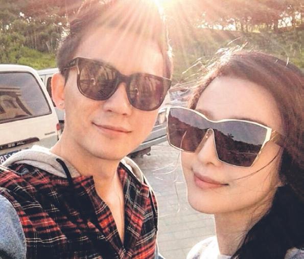 """李晨(左)想和范冰冰合作,但坦承怕""""请不到她""""。(互联网)"""