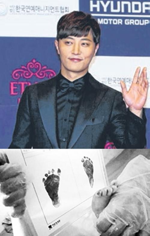 晋久在Instagram公开新生儿的脚印照。(互联网)