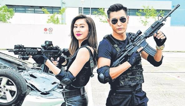 陈展鹏与绯闻女友胡定欣(左)再度合作拍新剧《同盟》。(互联网)