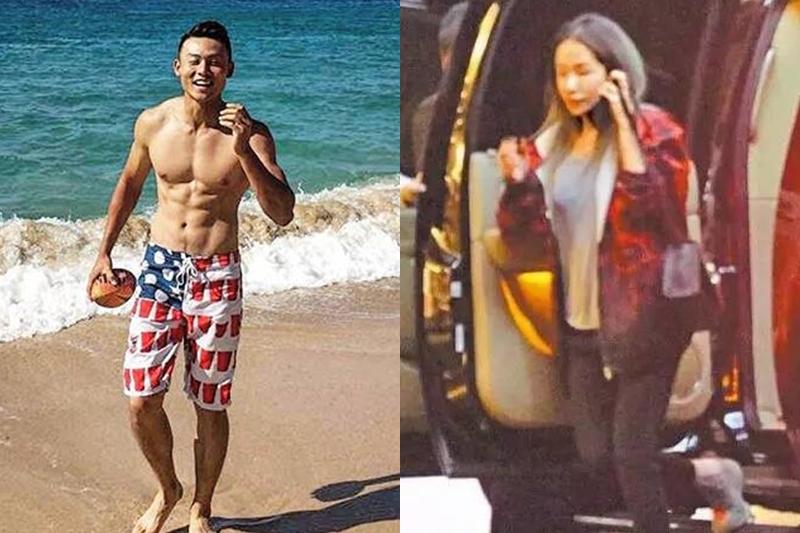 """(左)高球好手男友陈桦。(右)萧亚轩自认""""外貌协会""""会员,交往过的男友都高富帅。(互联网)"""