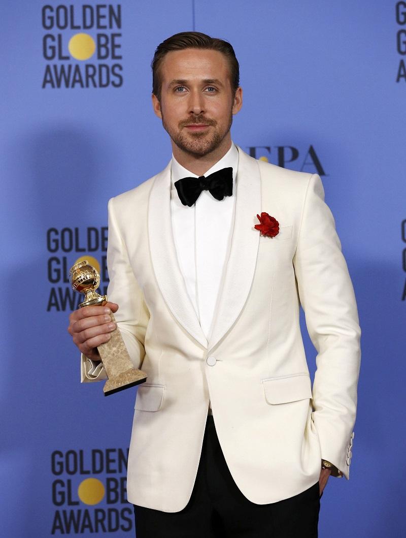 Ryan Gosling以《La La Land》夺得音乐喜剧类最佳男主角。