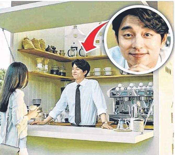 孔侑昨天公开在澳大利亚拍咖啡广告的情景。(互联网)