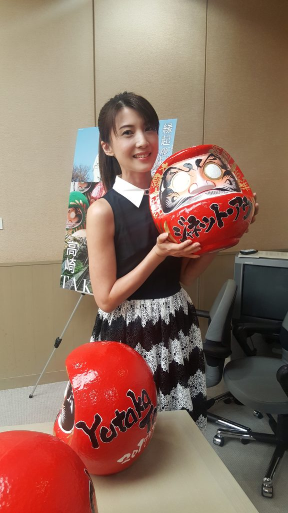 Jeanette with her Daruma doll