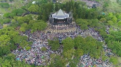 五月天3月29日免费开唱,五迷挤爆大安森林公园。