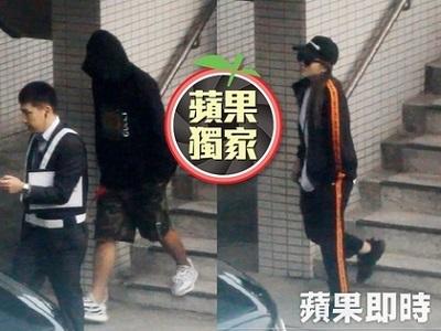 罗志祥、周扬青一前一后离开机场。(台湾《苹果日报》照片)