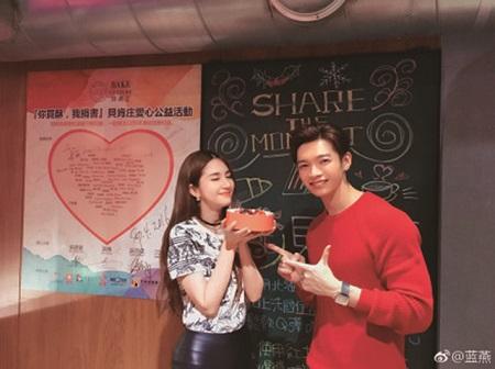 蓝燕(左)和辰亦儒因为网路剧《巫蛊笔记》相识。
