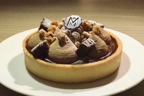 Marou chocolate tart available at Chye Seng Huat Hardware